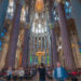 La Sagrada Familia interior Barcelona time-lapse video