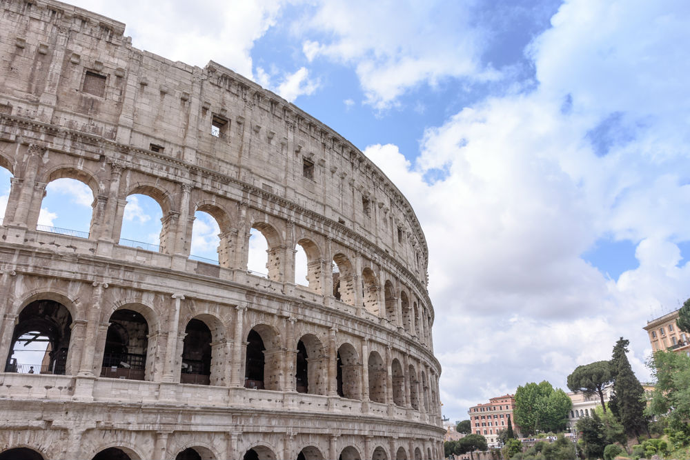 Colosseum Rome where gladiators fought to the death