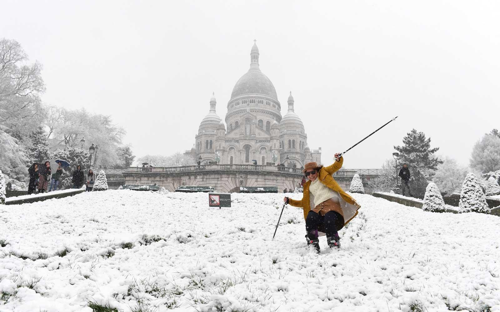 It snowed in Paris! Here's the best of it on Instagram