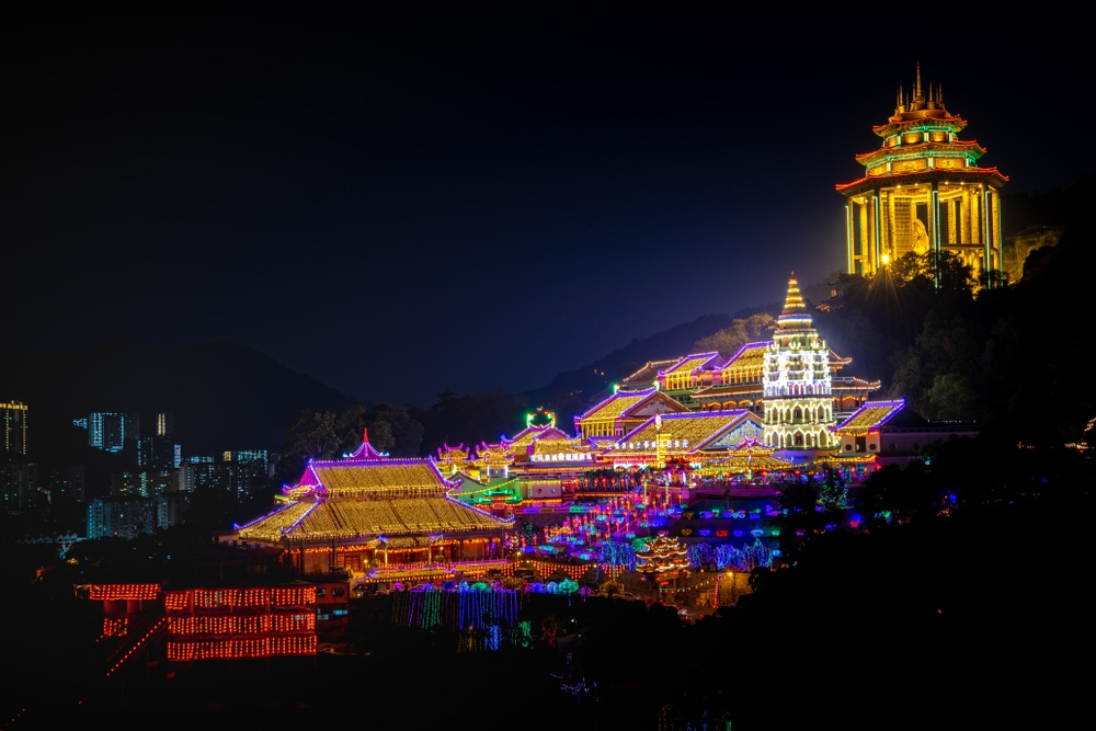 Kek Lok Si hilltop temple light display