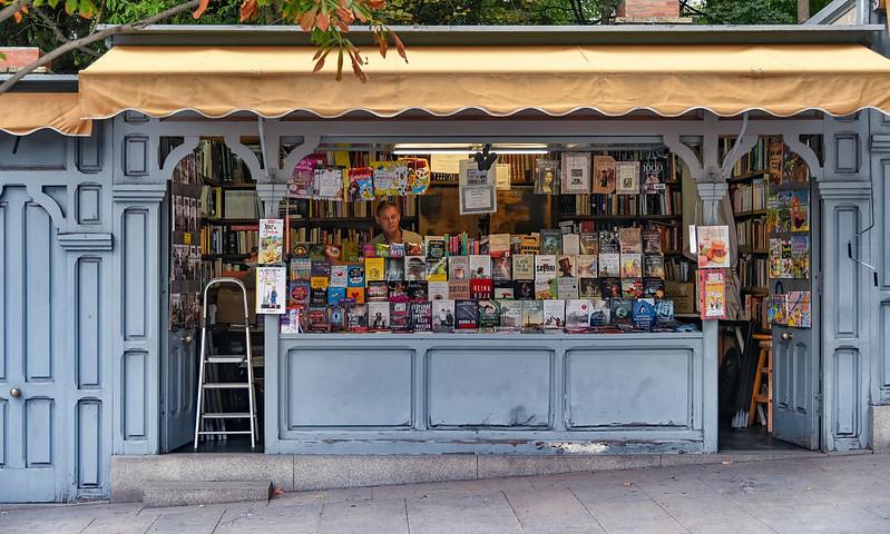 The vintage book stalls in Cuesta de Moyano