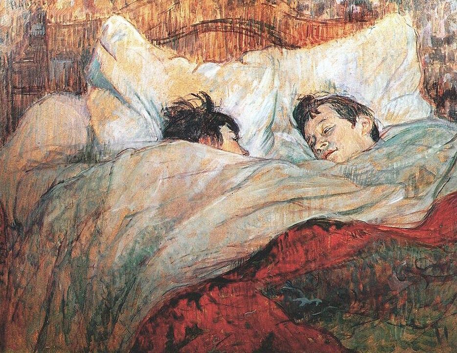 In Bed from the La Lit series by Henri de Toulouse-Lautrec