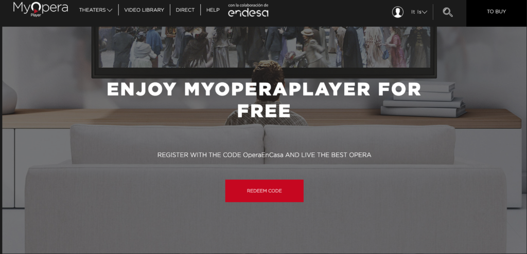 Try My opera player as a way to watch opera online.