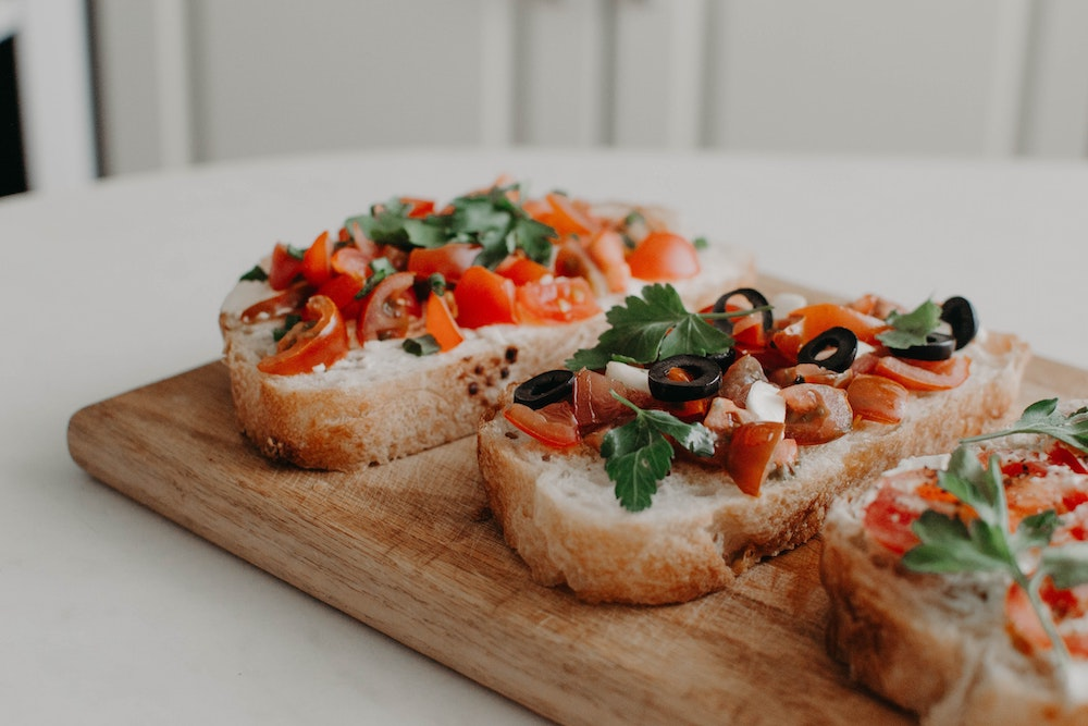 One of the most authentic Italian snacks: bruschetta