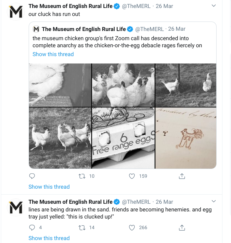 The Museum of English Rural Life has one of the best museum Twitter profiles