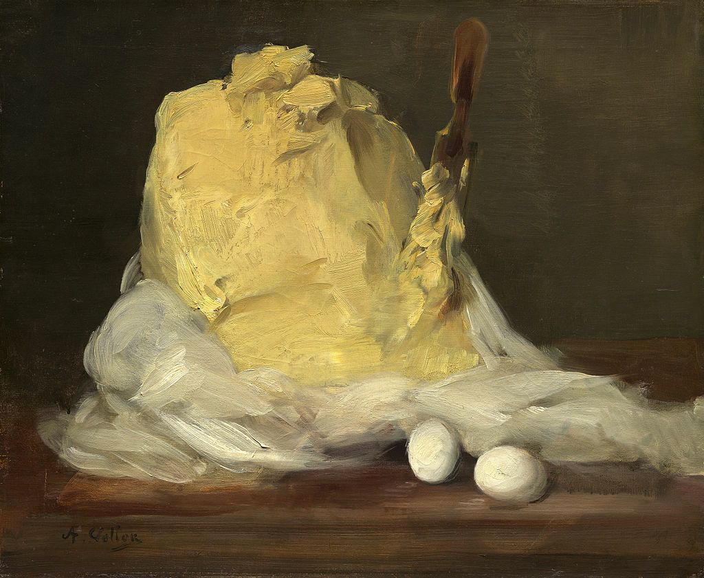 Mound of Butter by Antoine Vollon, a French famous food painting.