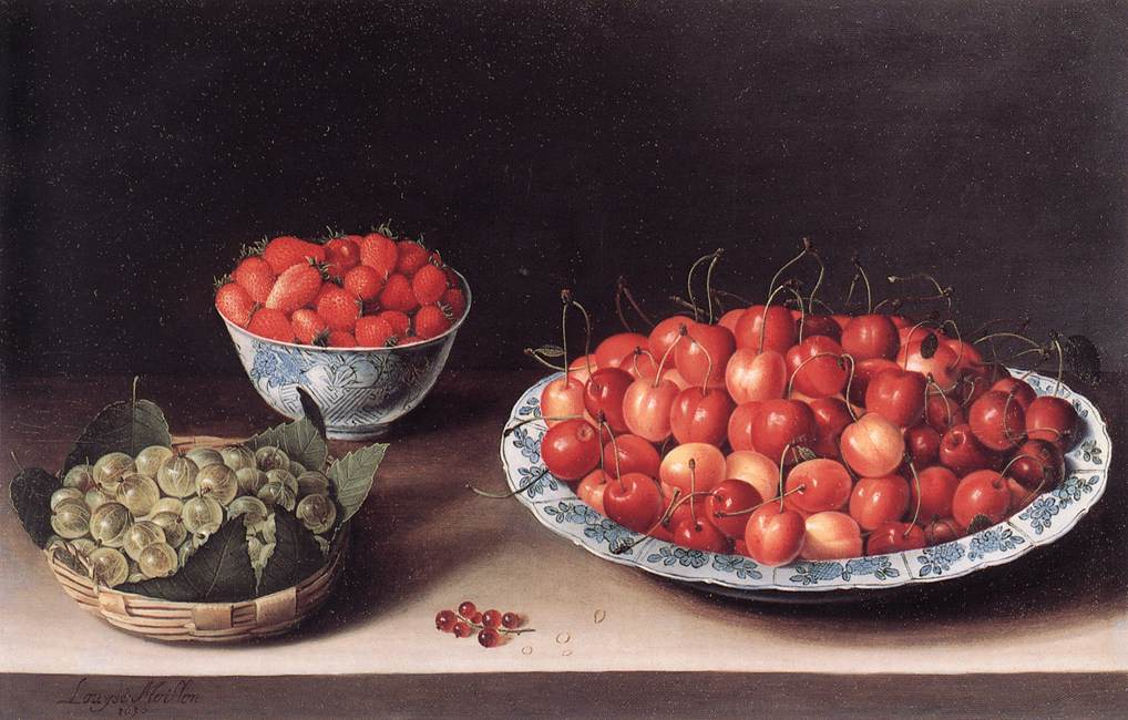 A food painting by Louise Moillon, depicting fruit.
