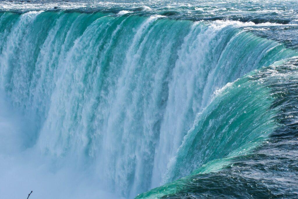 Water flowing over Niagara Falls