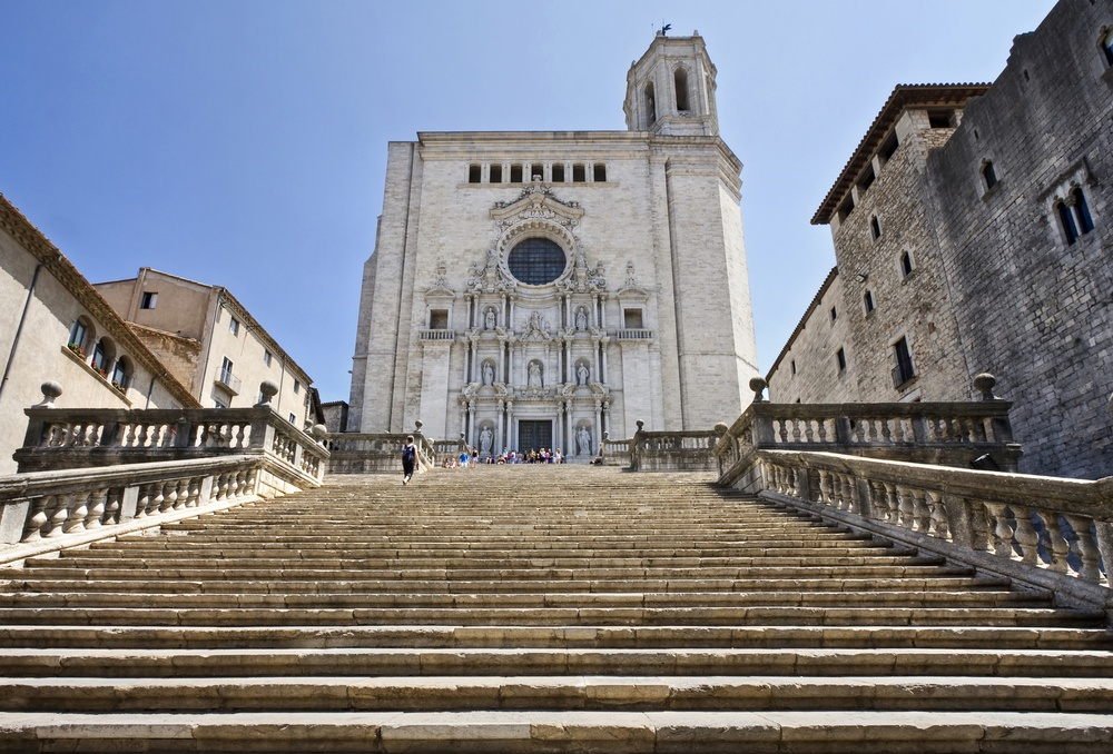 The dramatic facade of Girona Cathedral, which was featured in HBO's Game of Thrones series is another Barcelona day trip must.