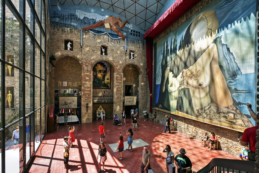 Inside the Dalí Theatre Museum, this artistic pilgrimage is one of the best day trips from Barcelona.