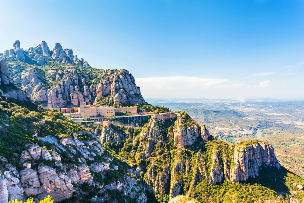 The breathtaking mountain beauty of Montserrat is one of the best places for a day trip from Barcelona.