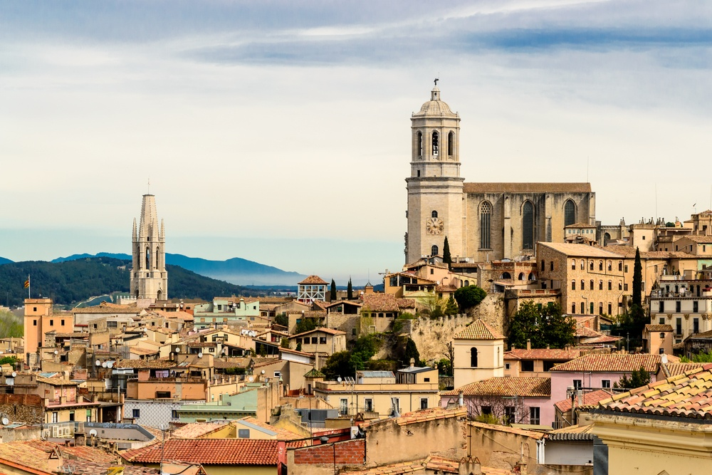 The gorgeous Girona skyline, almost worth a day trip from Barcelona by itself!