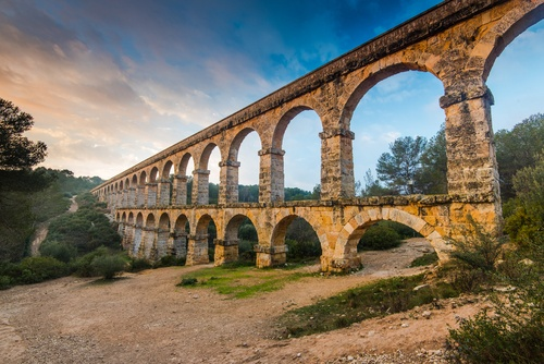 The Tarragona Aqueduct, another stunning relic of Roman antiquity in Tarragona, and another reason to make a day trip from Barcelona.