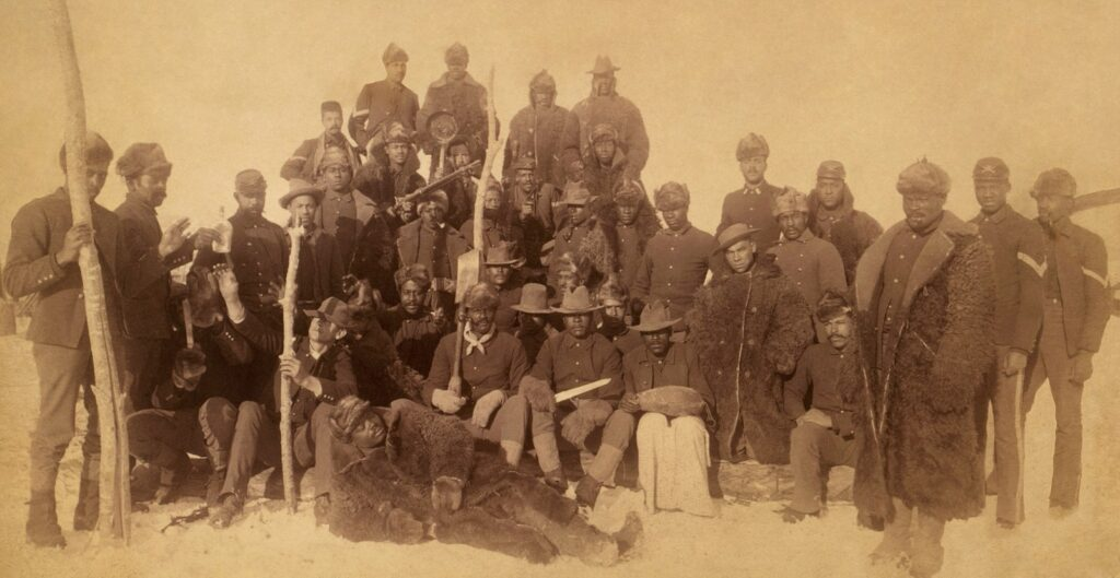 Buffalo Soldiers of the 25th Infantry pictured together in 1890.