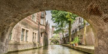 View from the water canal - Utrecht Netherlands