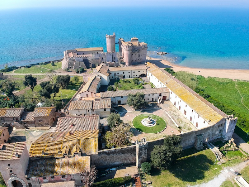 From Rome to Santa Severa. This seaside town is picture perfect with its castle.