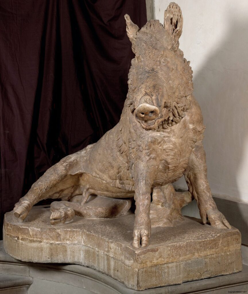 The boar is a gateway towards the Renaissance's fascination with the natural world.