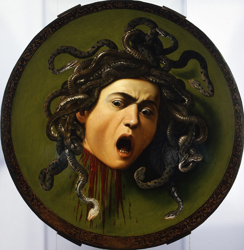 Medusa is a painting by Caravaggio