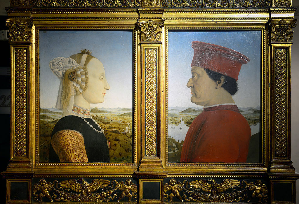 The Duke and Duchess of Urbino is one of the highlights of the Uffizi Gallery