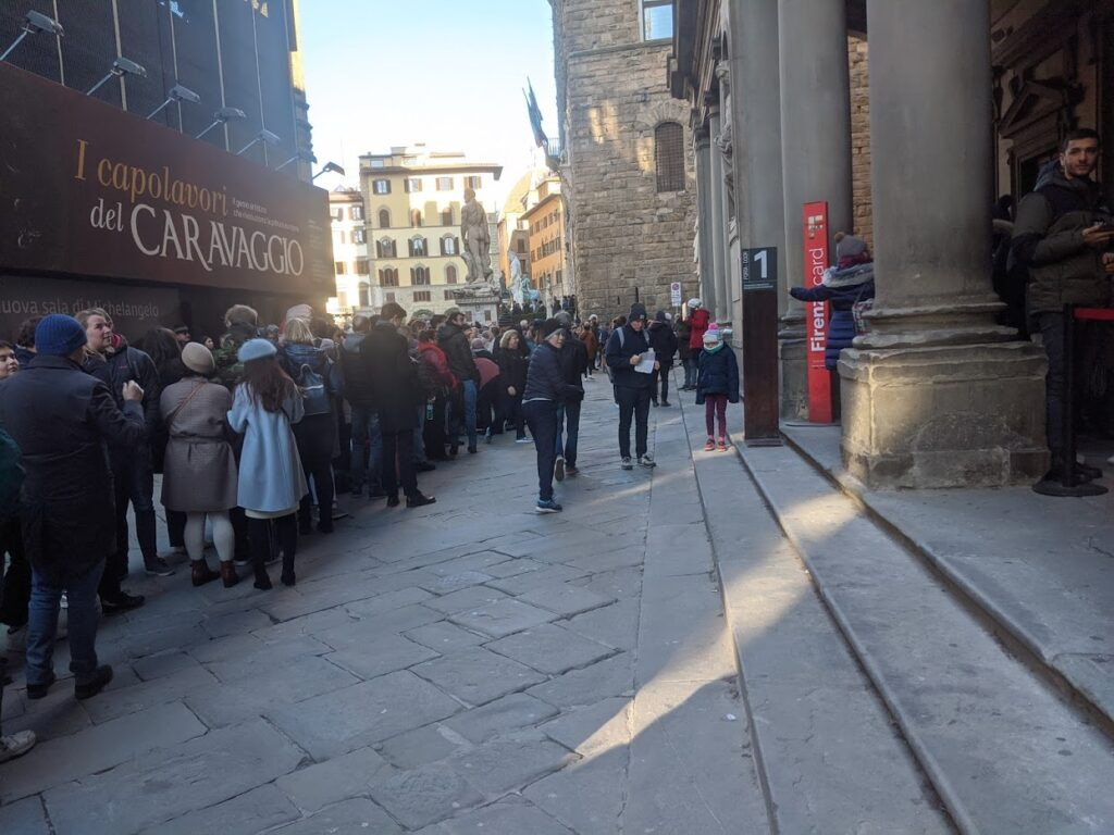 Visiting the Uffizi Gallery – getting in