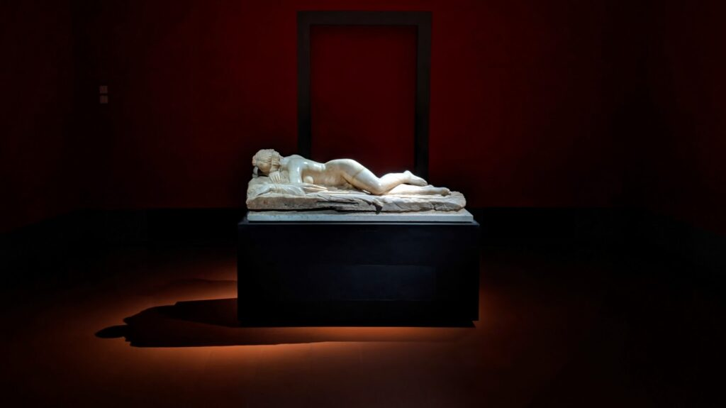A version of the Sleeping Hermaphrodite is housed in the Uffizi Gallery in Florence