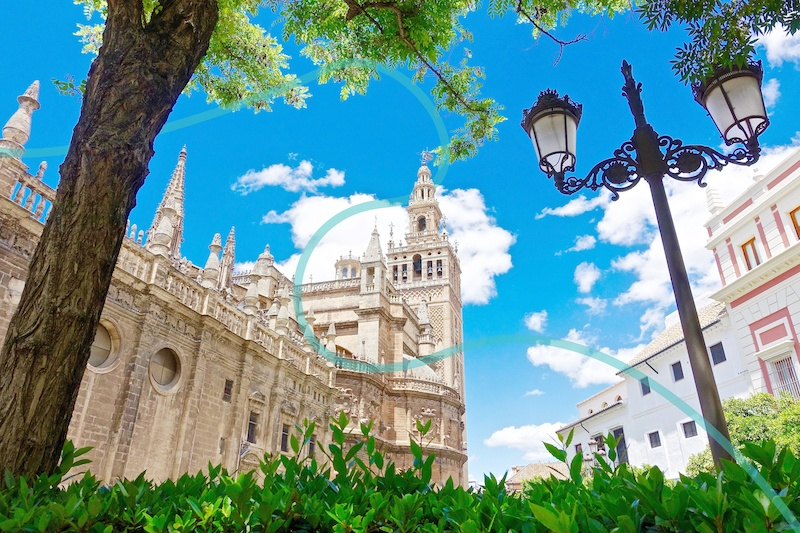The Seville Cathedral is one of the most famous landmarks in Spain.