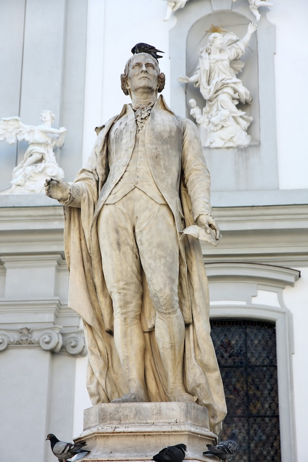 See Joseph Haydn's statue on your day trip from Vienna to Eisenstadt