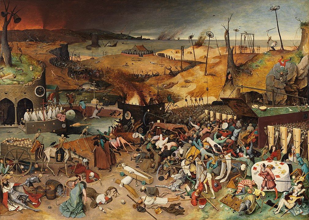 The painting Triumph of Death at the Prado Museum in Madrid.