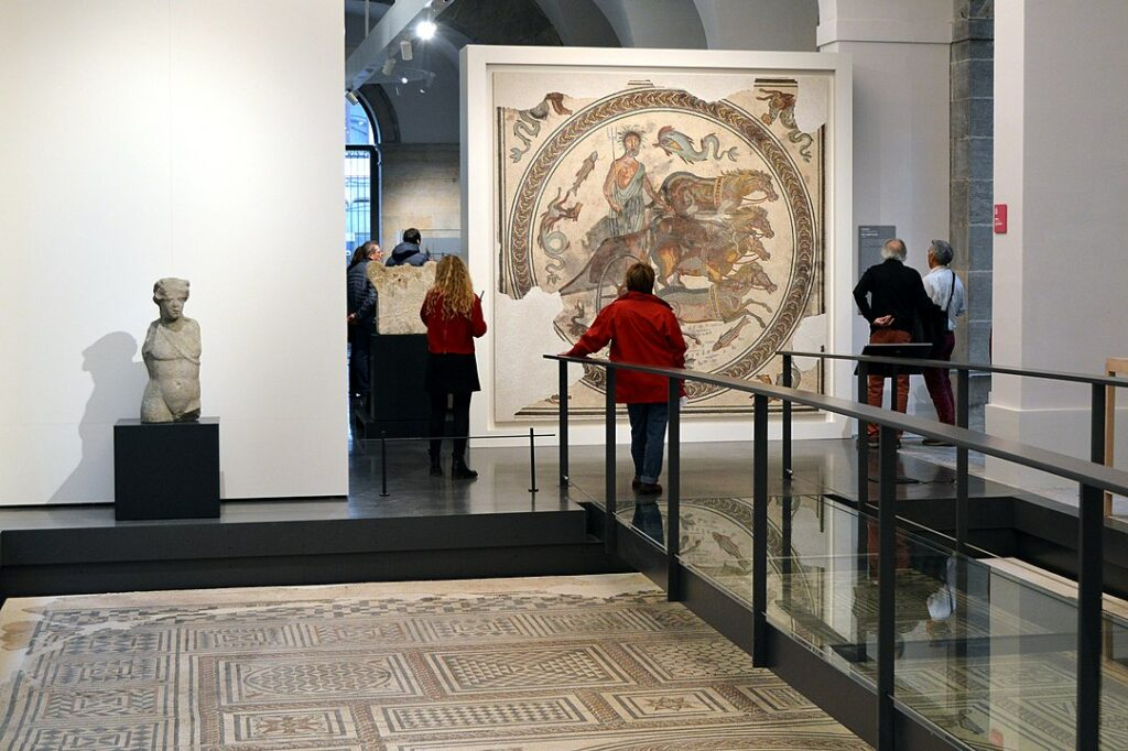 A gallery inside the Museum of Fine Arts and Archaeology of Besançon