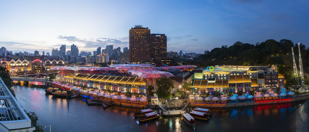 Clarke Quay is full of heritage and nightlife