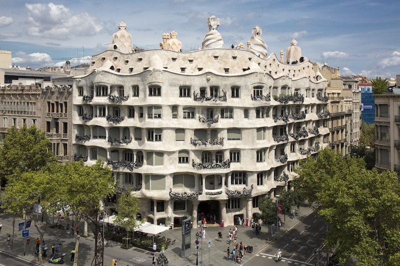 The outside of la Pedrera a Gaudi masterpiece