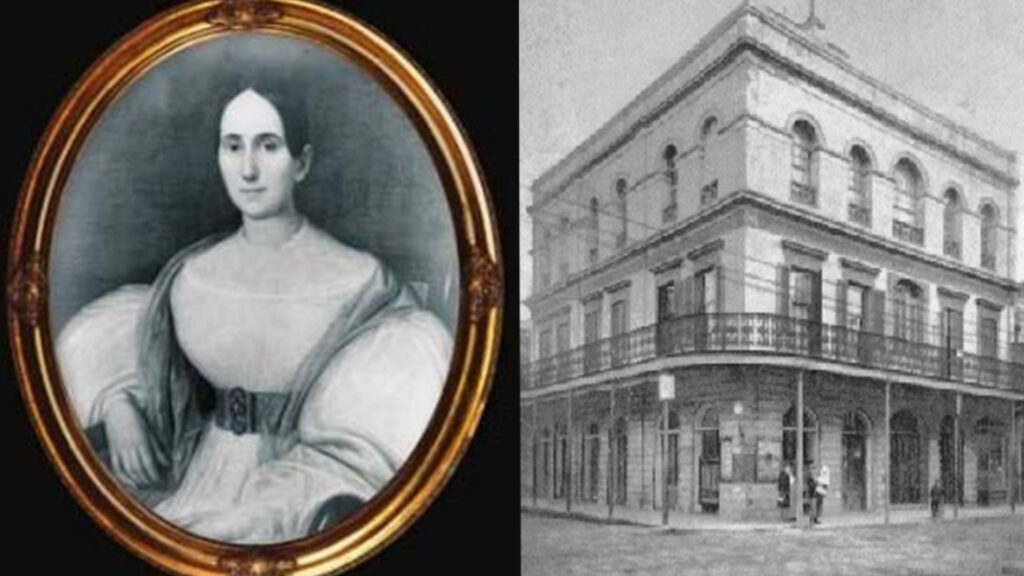 Delphine LaLaurie and the LaLaurie Mansion on Royal Street, New Orleans.