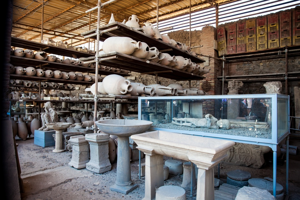The Forum Granary in Pompeii is now a museum of artefacts.