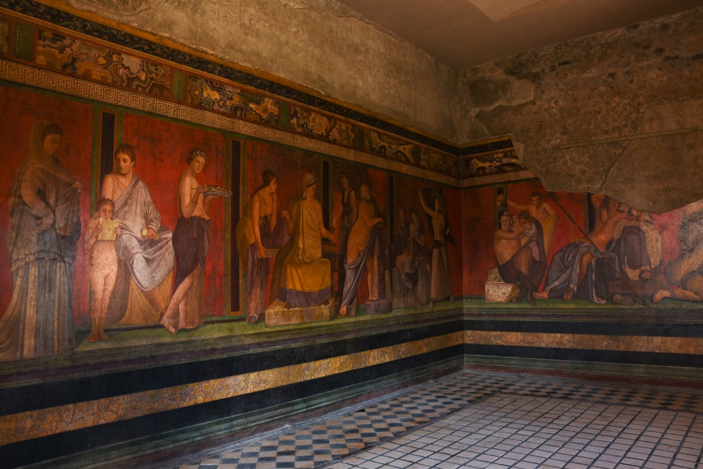 The frescoes in the Villa of Mysteries are among the most iconic in all of Pompeii.
