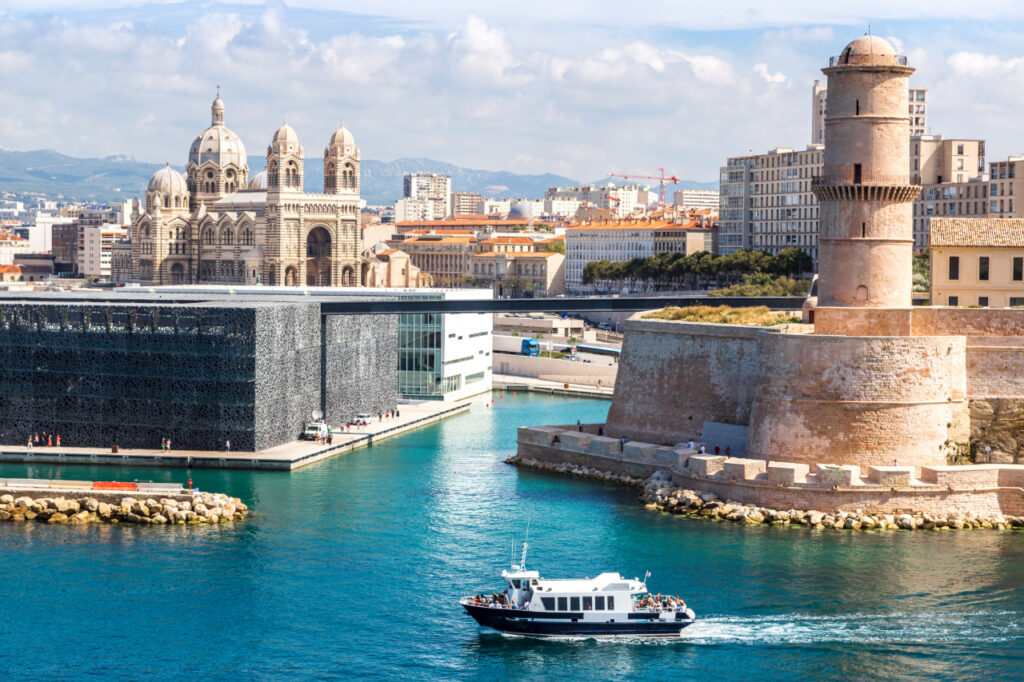 Cathedral de la Major, MuCEM, and the Vieux port in Marseille