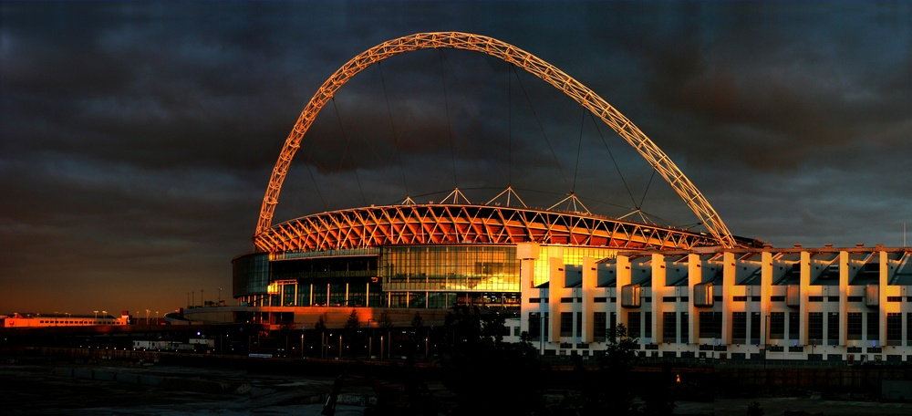 Wembley Stadium, one of the top sporting landmarks in London.