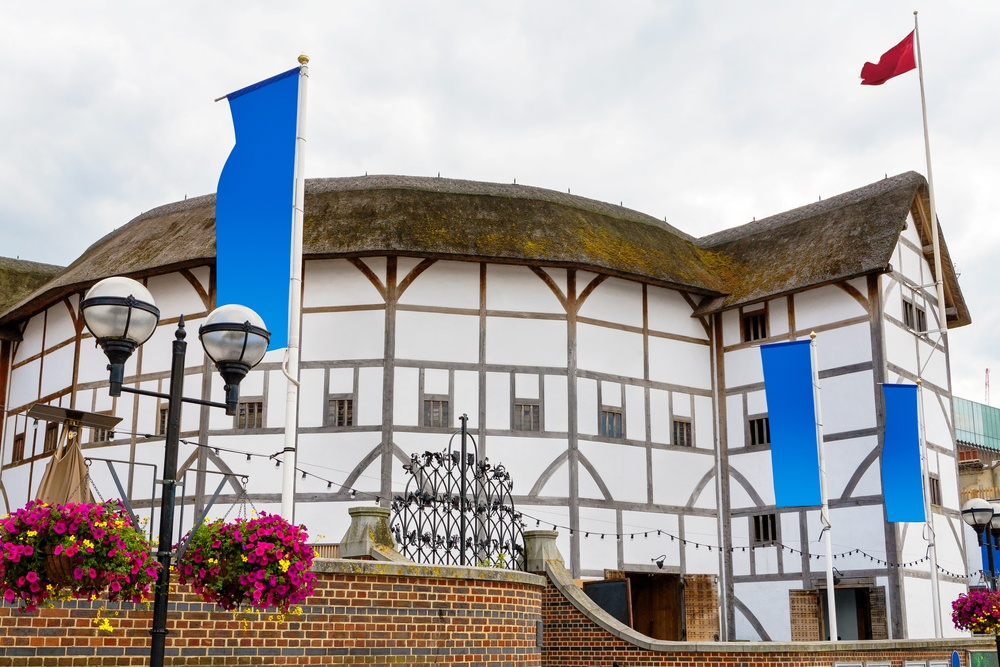 Shakespeare's Globe Theatre, a recreation of a famous historical London landmark.