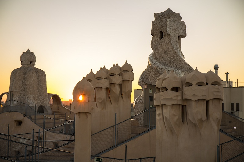 La Pedrera roof is gorgeous any time of day.