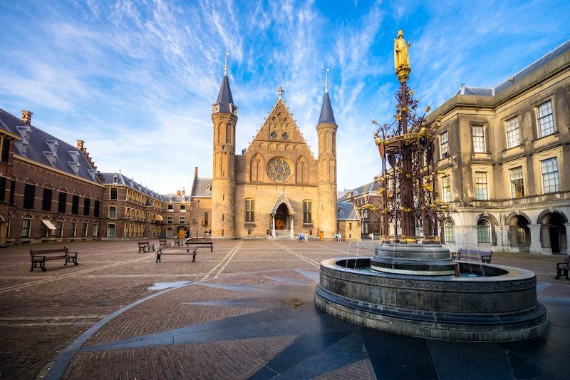 Take a peek at the Ridderzaal when you visit the Binnenhof in the Hague