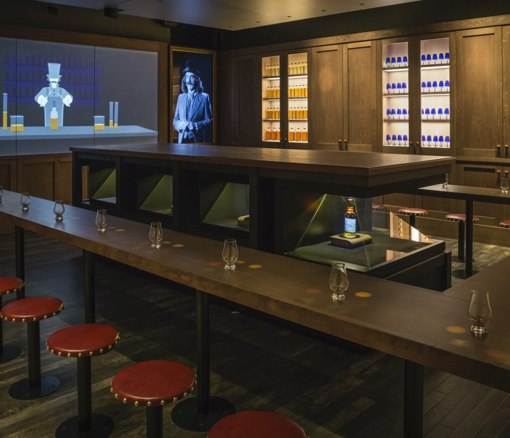 The Scotch tasting room inside the Scotch Whisky Experience