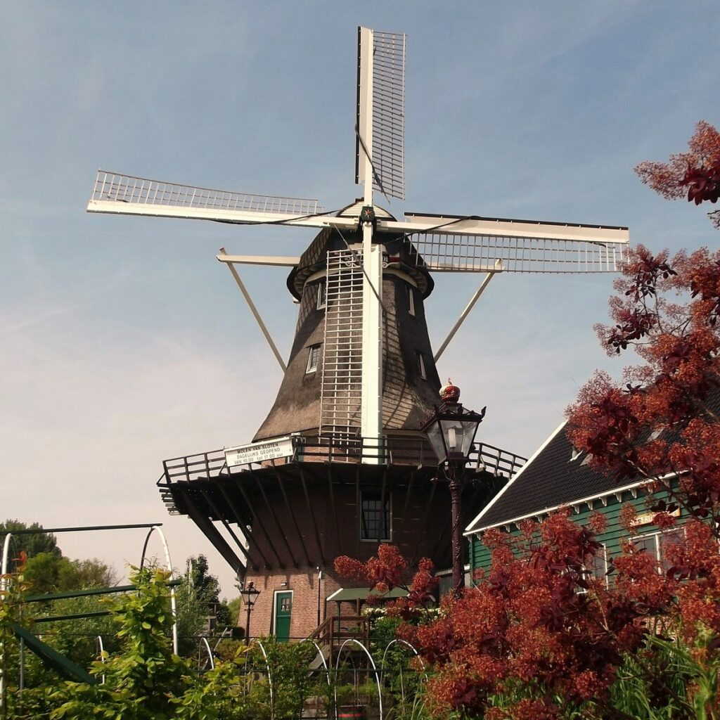 View of the windmill from below.