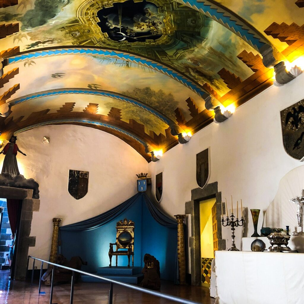 The quirky home decor of Salvador Dalí in the castle he purchased for his wife.