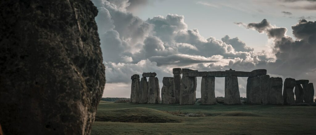 Clouds roll over Stonehenge