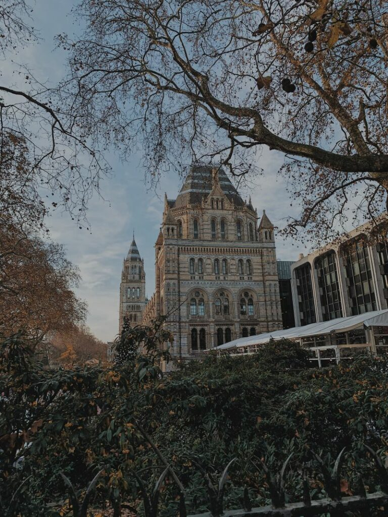 Exterior of the Natural History Museum in London