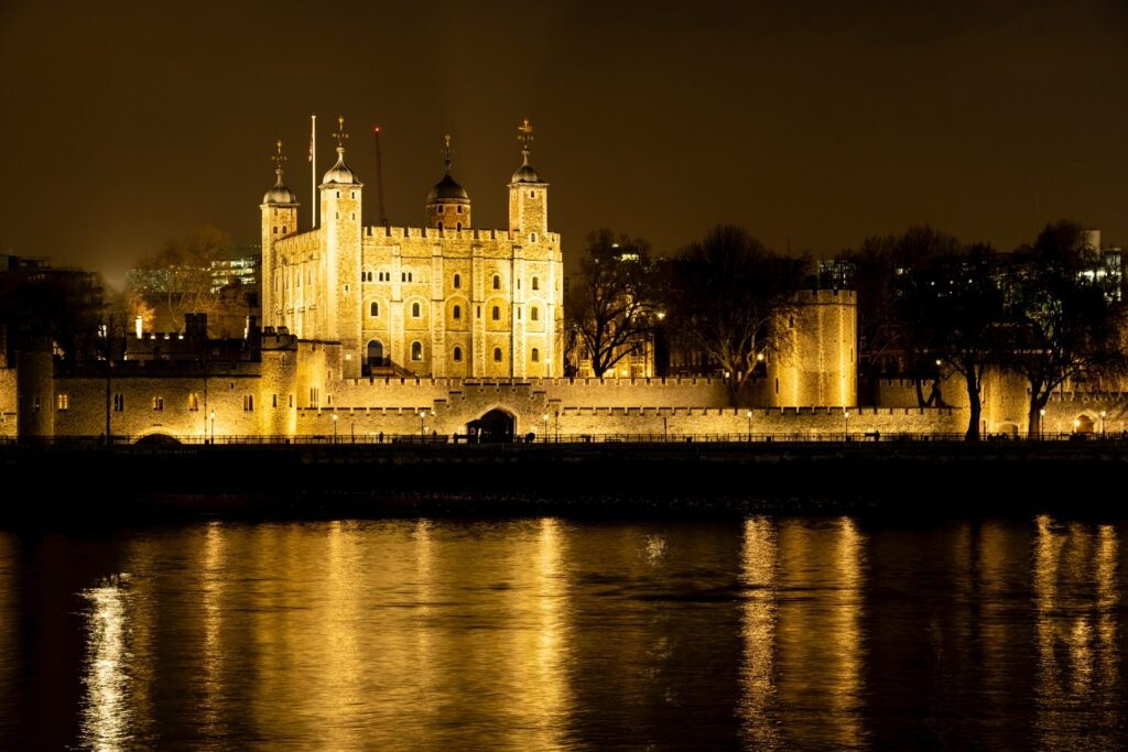 View of the Tower of London from across the Thames