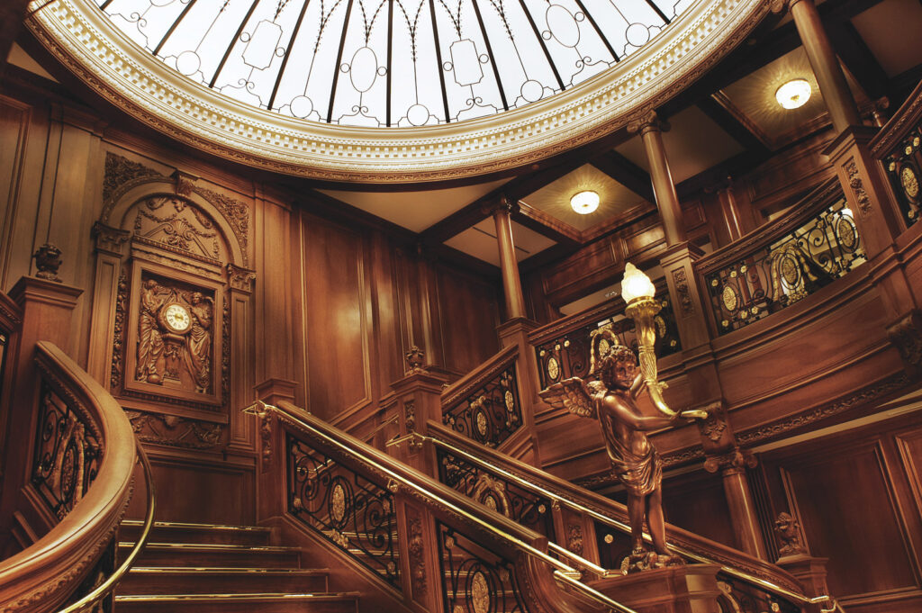The staircase replica at Titanic Museum Experience