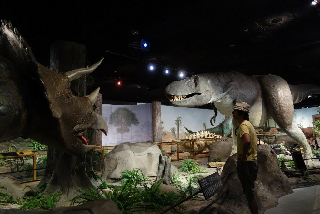 A dinosaur exhibition at Las Vegas Natural History Musuem