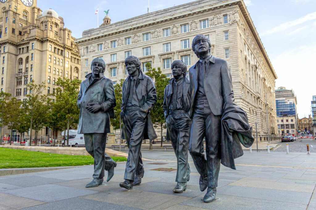 Statue of The Beatles in Liverpool