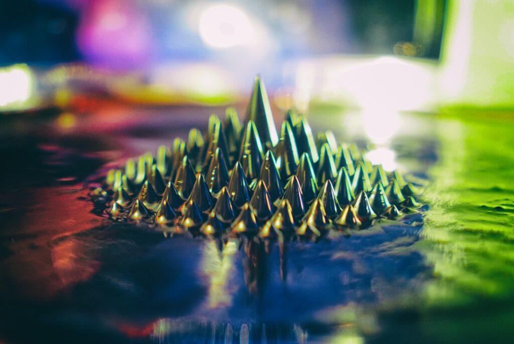 Ferrofluid closeup