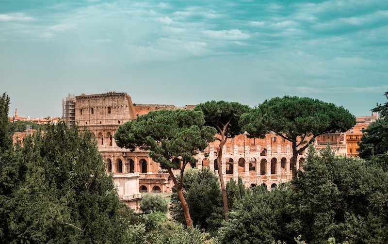 The colosseum in Rome is a famous historical site